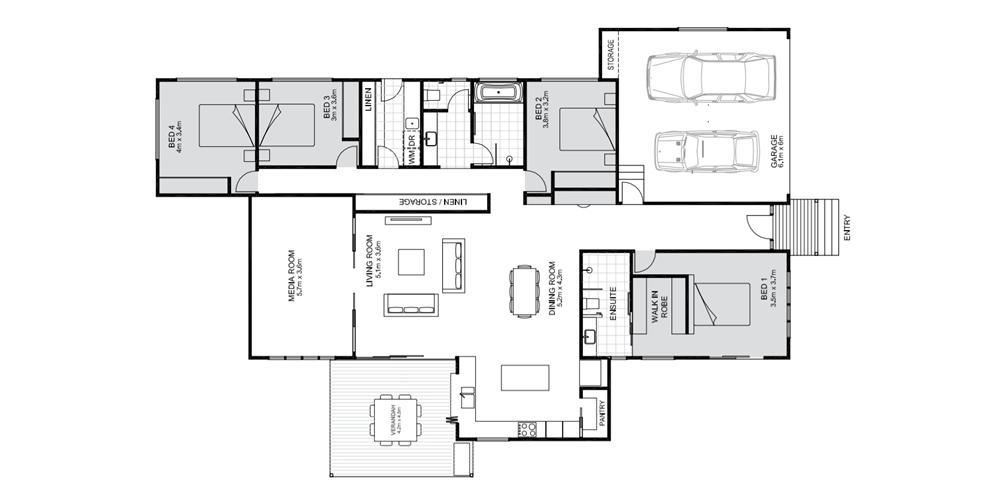 Acacia floorplan by Koru Builder Cairns