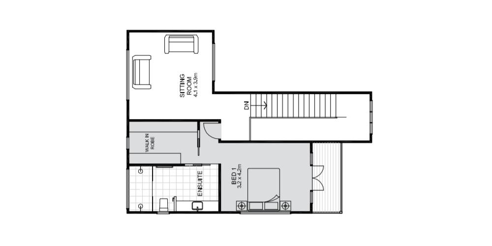 Barron upper floorplan Koru Building Cairns