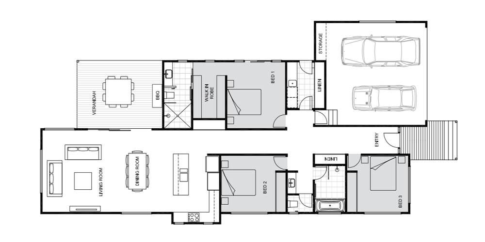 Jacaranda floorplan Koru Building Cairns