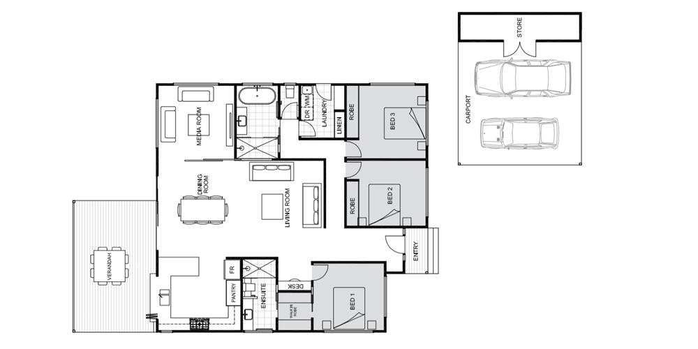 Poinciana floorplan Koru Builders Cairns