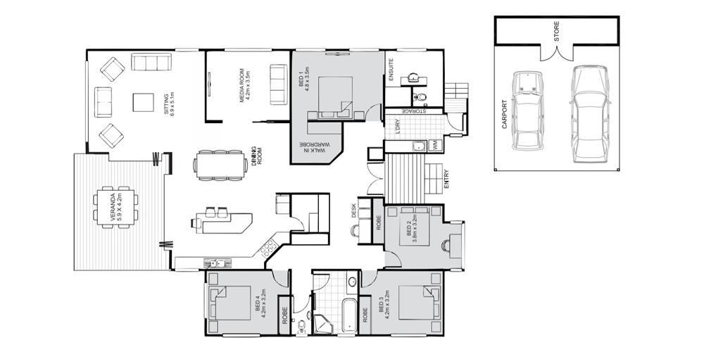 Stratford floorplan Koru Builders Cairns